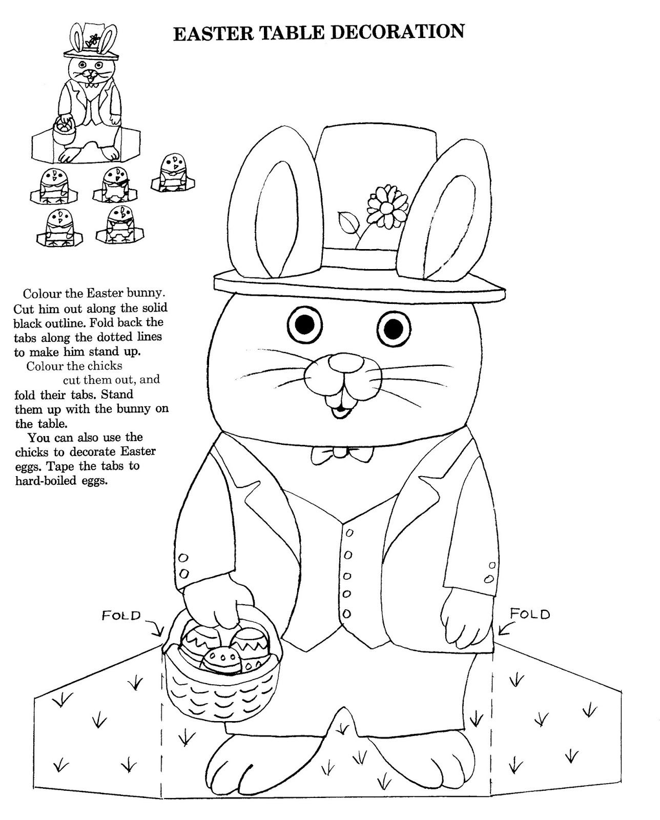 Easter table decoration - Richard Scarry Coloring Pages | For my ...