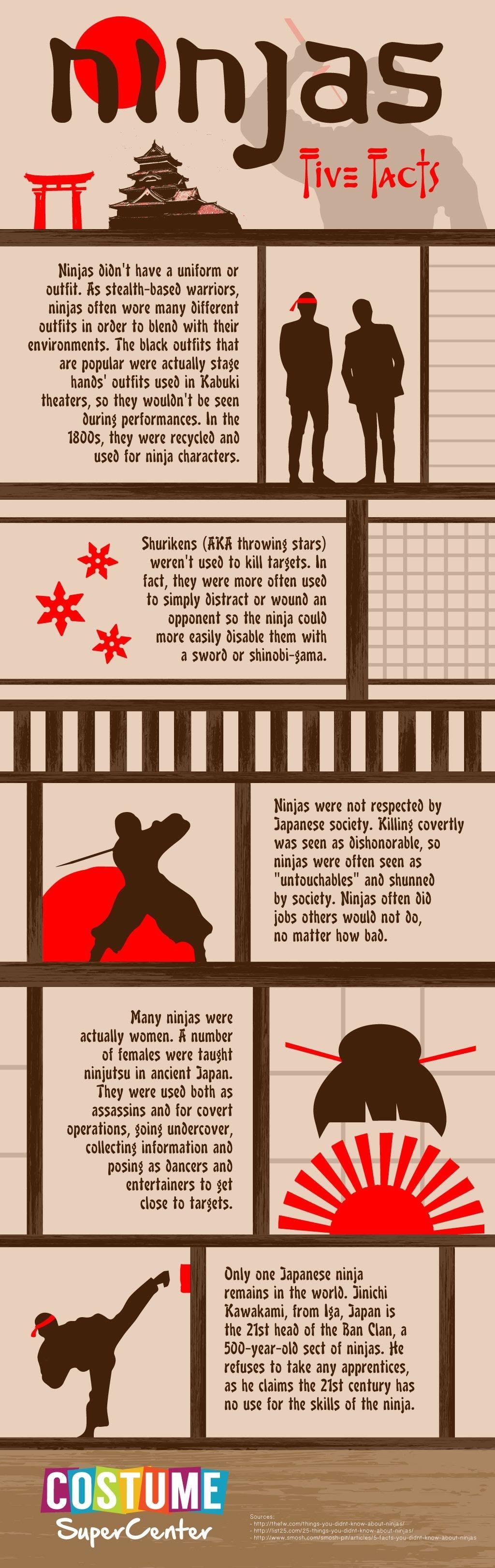 Ninjas Five Facts