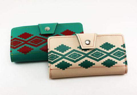 The Light Salmon Navajo Lady Wallet - $49.95 : Best Guitar Straps | Vegan Belts | Vinyl Guitar Straps | Guitar Straps, Seat belt guitar straps and vinyl guitar straps, vegan belts