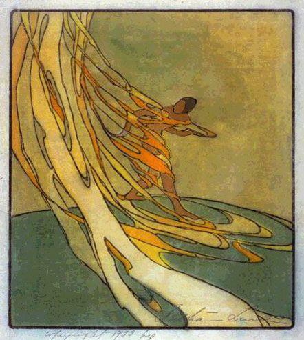 Spirit of the Volcano  by Bertha Lum, 1933