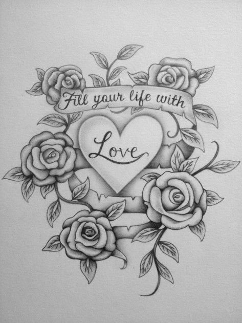 Tattoo pencil drawings tumblr love tattoo by shell on deviantart love