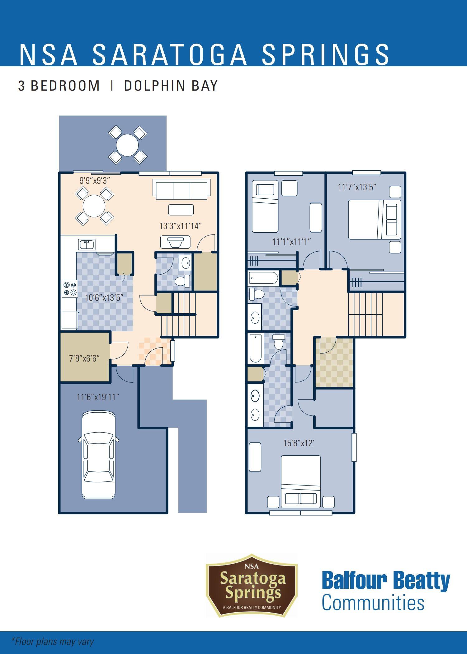 Saratoga Springs Family Housing Balfour Beatty Communities Floor Plans House Floor Plans House Rental