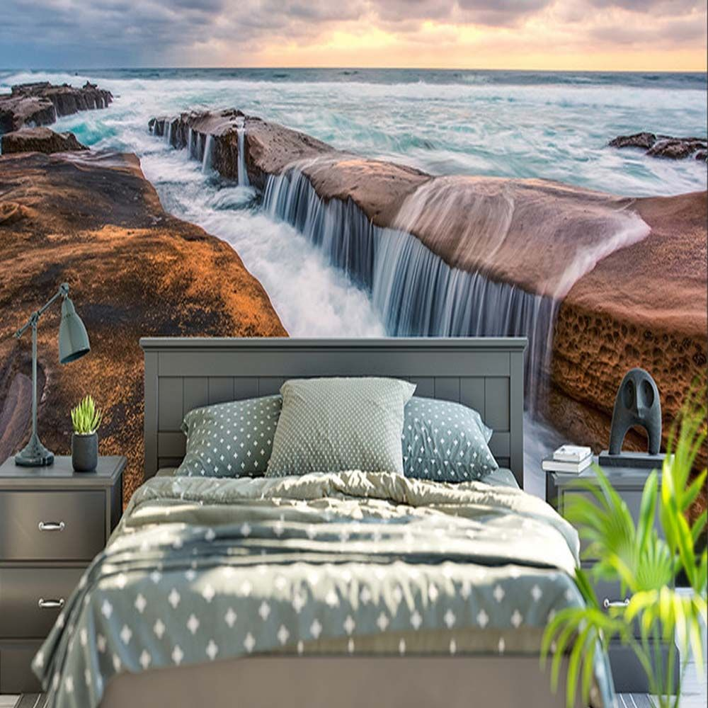 Find More Wallpapers Information About Modern Nature Landscape Wall  -> Papel De Parede Para Sala Rock N Roll