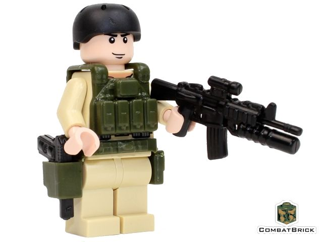 Steel Lego Custom AK-47 ASSAULT RIFLE Minifigure Military Army Special Forces