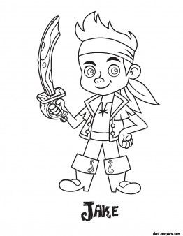 Printable Jake Pirates Coloring Pages Printable Coloring Pages For Kids Pirate Coloring Pages Disney Coloring Sheets Coloring Pages