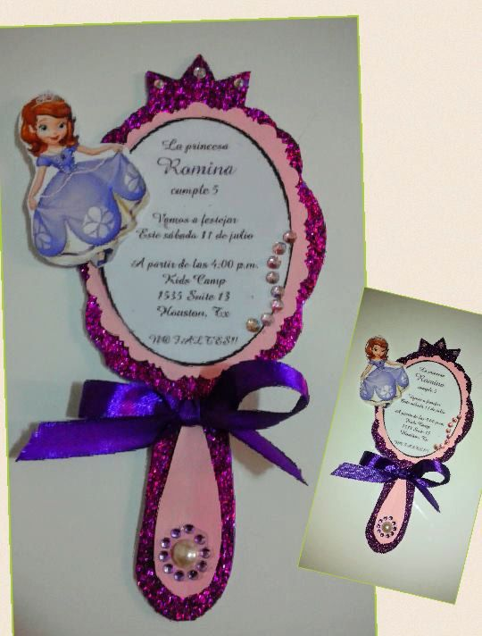 Invitations Sofia The First By MonicasInventions On Etsy
