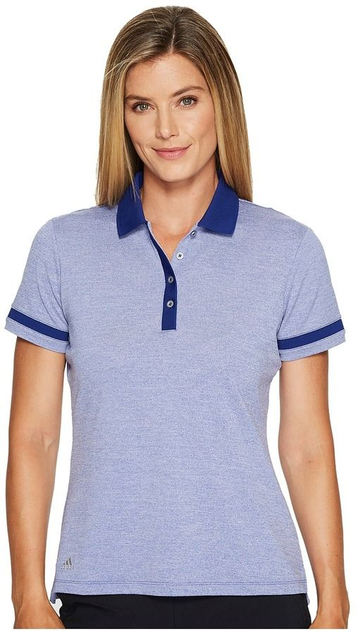 adidas Three Toned Pique Polo Women's Short Sleeve Pullover ...