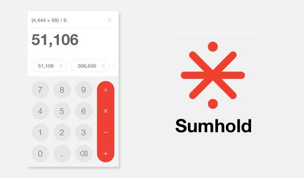 Sumhold - The first calculator designed for humans.