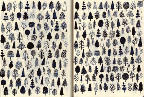 love these illustrated trees