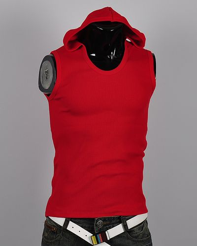 Details about New mens sleeveless hoodie t-shirt tank top Cotton ...