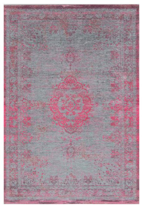 Orientteppich Muster Gefärbt Gewebt Grau Pink Vintage Teppich