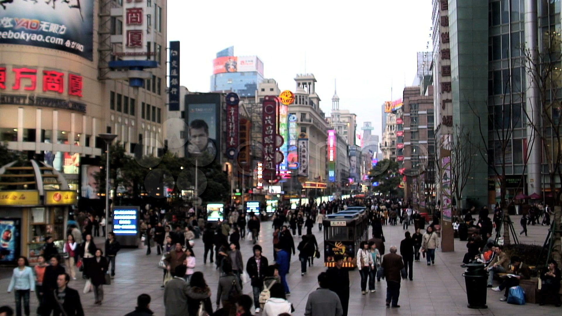 Busy City In China Stock Footage Ad City Busy China Footage