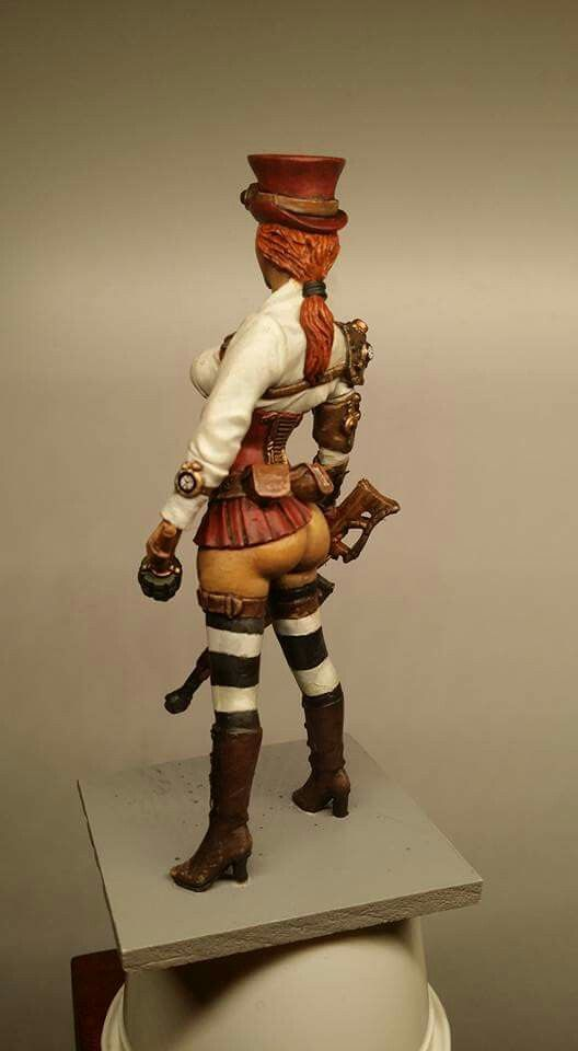 75mm steampunk huntress military miniatures pinterest