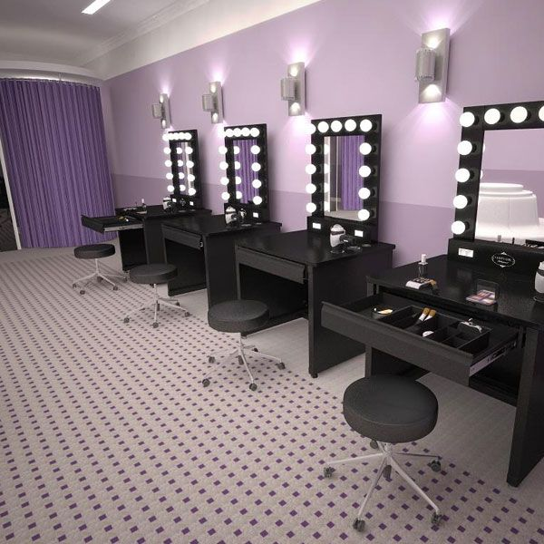 Glam makeup vanity makeup rooms kim kardashian official for The make room website