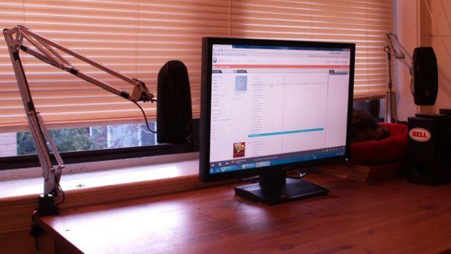 Hack an Ikea Lamp into an Adjustable Computer Speaker Mount