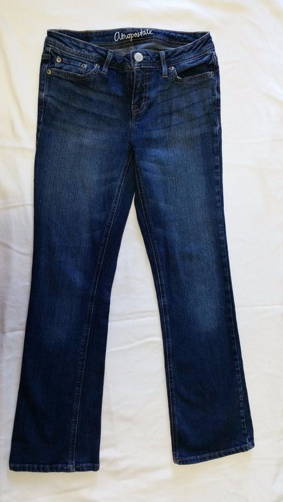 Aeropostale Jeans Chelsea Boot Cut Juniors Size 2 Denim Pants  Short Medium #Aropostale #BootCut