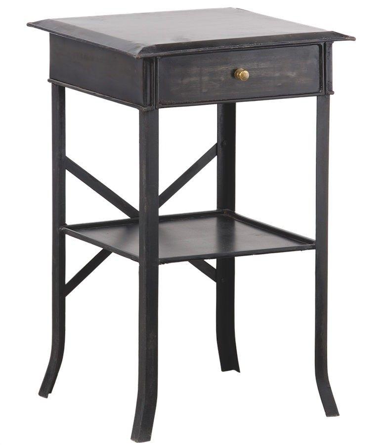 Mesita de noche de metal peque a o grande mesillas pinterest mesas mesas de metal y - Mesita noche pequena ...