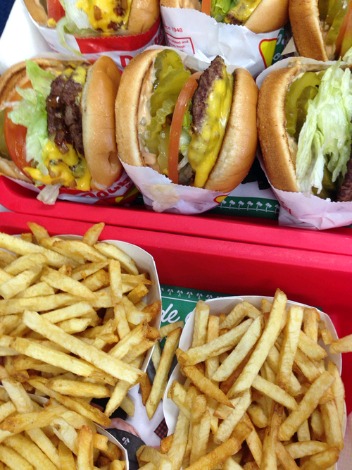 "verticalfood:  "" In N Out Burger (by KrinkofSpades)  """
