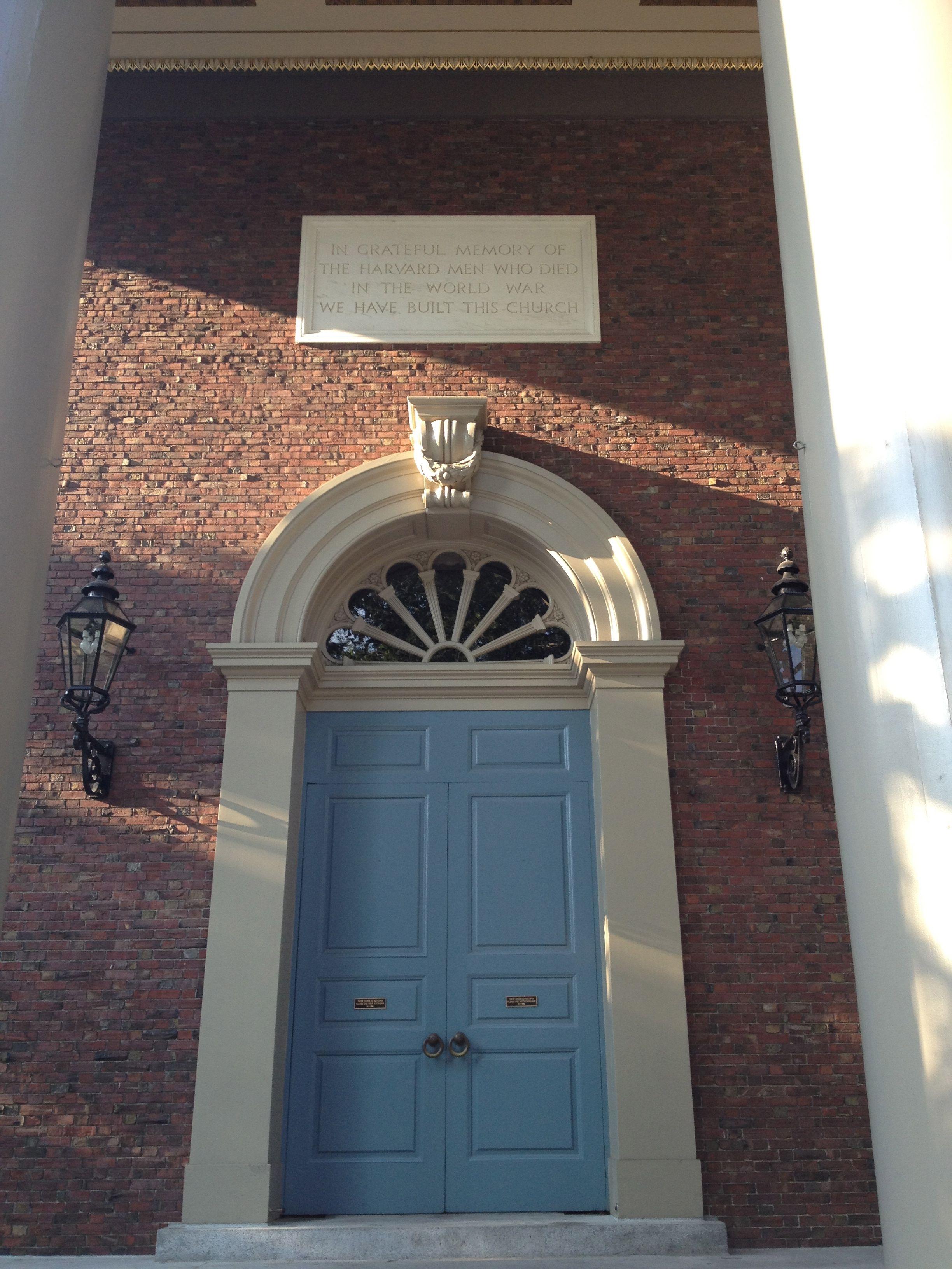 blue door overhead plaque~House of History LLC. & blue door overhead plaque~House of History LLC.   Harvard ...