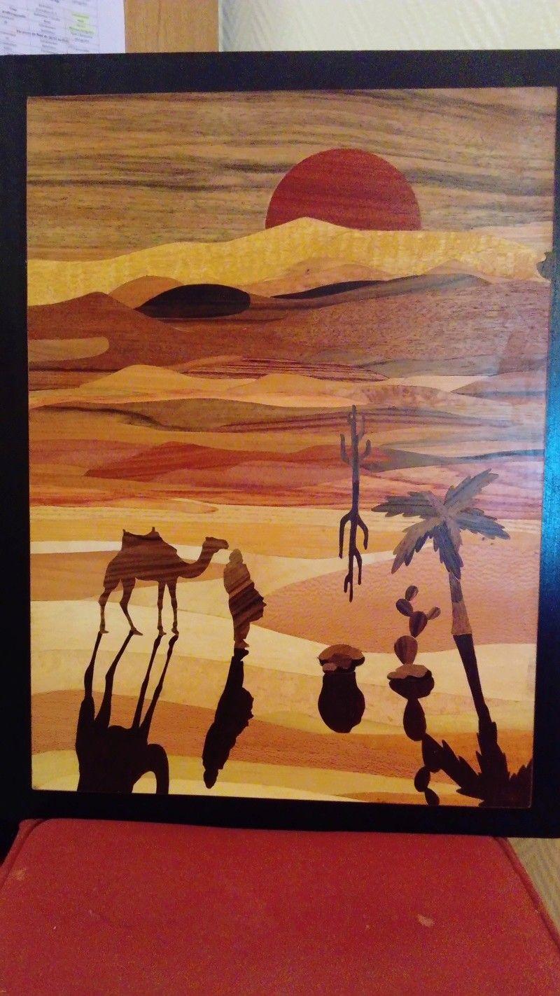 Paysage Marqueterie Les Arts Art En Bois Image Sur Bois