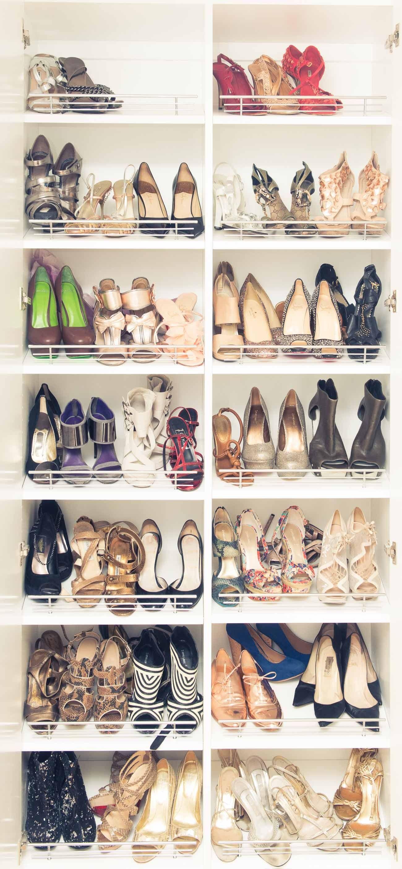 Cat Deeley   The Coveteur... shoe storage
