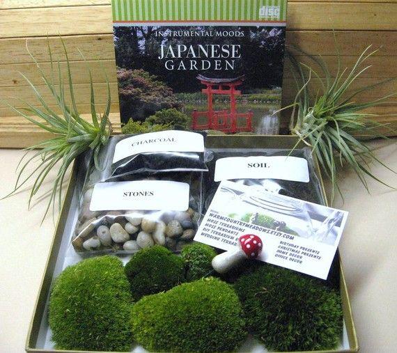DIY Zen Terrarium Kit Build Your Own Terrarium, And A Japanese Garden  Compact Disc