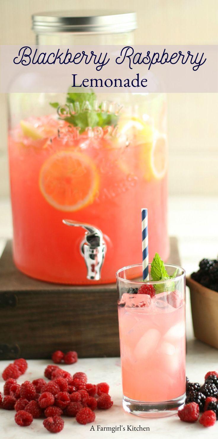 Blackberry Raspberry Lemonade - A Farmgirl's Kitchen