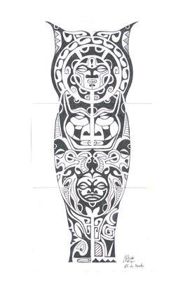 Tatuagem Polinesia Maori 0173 Perna Tattoo Tatuagem Maori Tatuagem