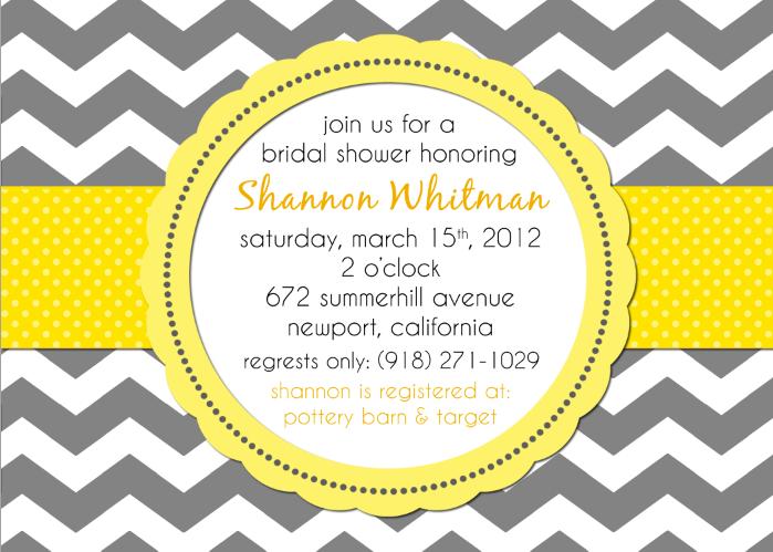 Bridal Shower Invitation Chevron Baby Shower Event Invitation
