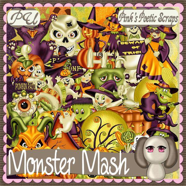 Pink's Poetic Scraps: Monster Mash BT