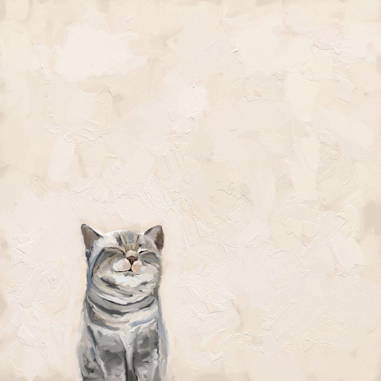 Feline Friends Cat On Pink Wall Art Cats Cats Illustration Cat Art