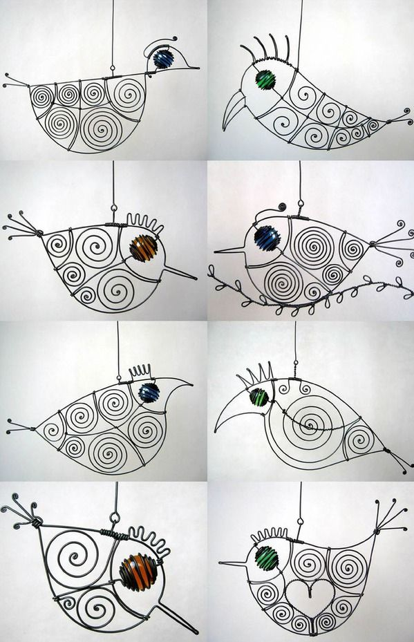 wire birdies Heaps of links for awesome art ideas | Zentangle ...