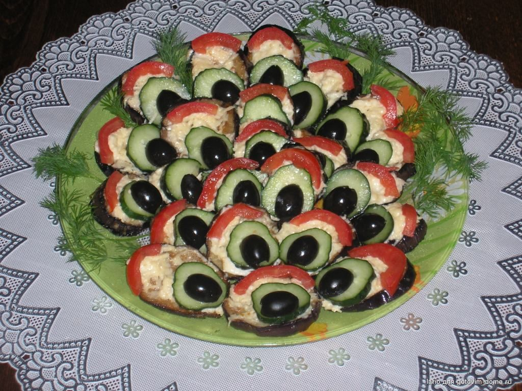 Закуска из баклажанов quotПавлиний хвостquot  рецепт с фото