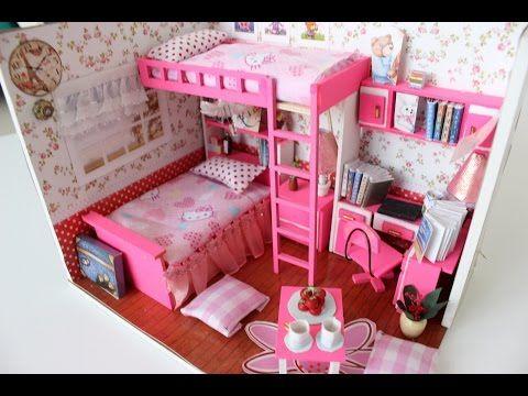 DIY Girly Miniature Dollhouse PART1 || Tia Tia - YouTube