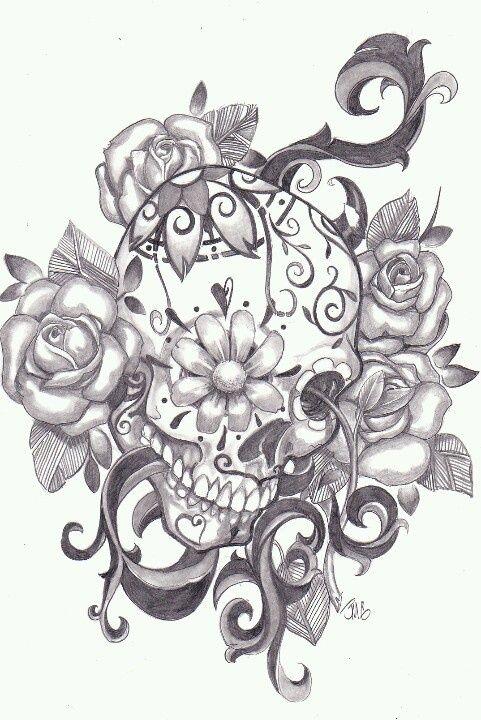 Beautiful Skull Tattoos For Women Google Search Mexican Skull Tattoos Candy Skull Tattoo Sugar Skull Tattoos