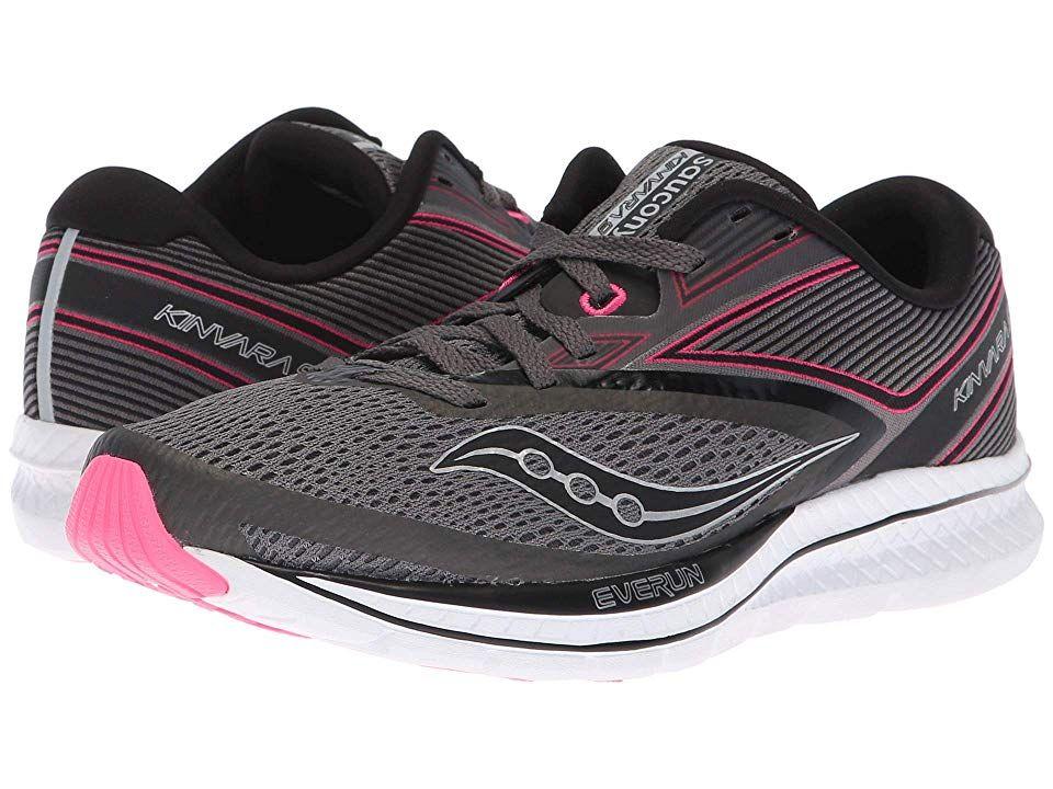 6c4abe91f2 Saucony Kinvara 9 (Grey/Black/Pink) Women's Running Shoes. You'll ...