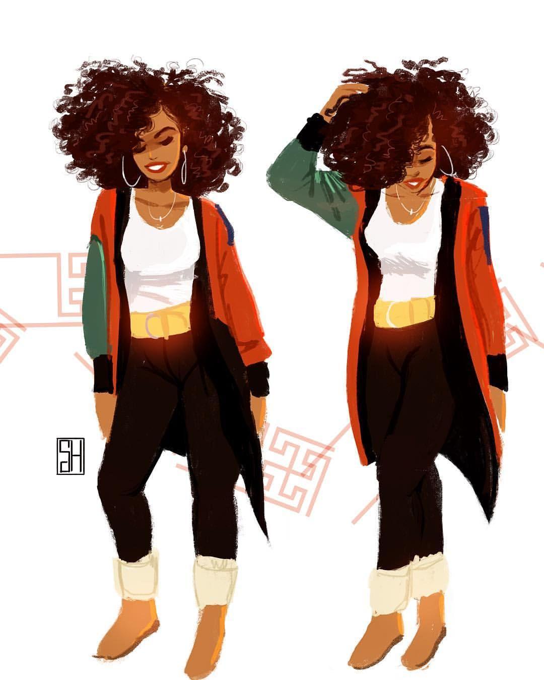 Natural Black Girl Fashion: Arte De Cabello Natural, Arte