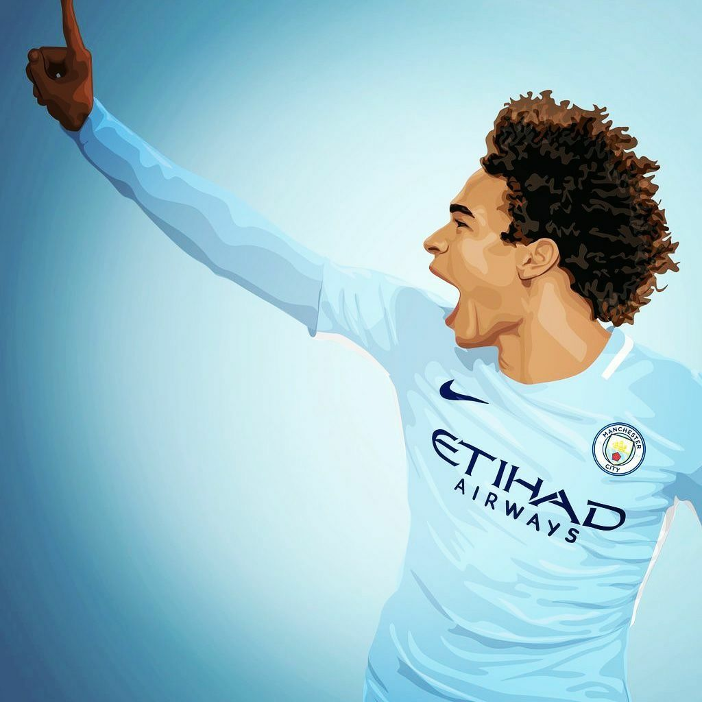 Leroy Sane Pfa Young Player Of The Year 2018 93 20 Art Leroy Leroy Sane Manchester City