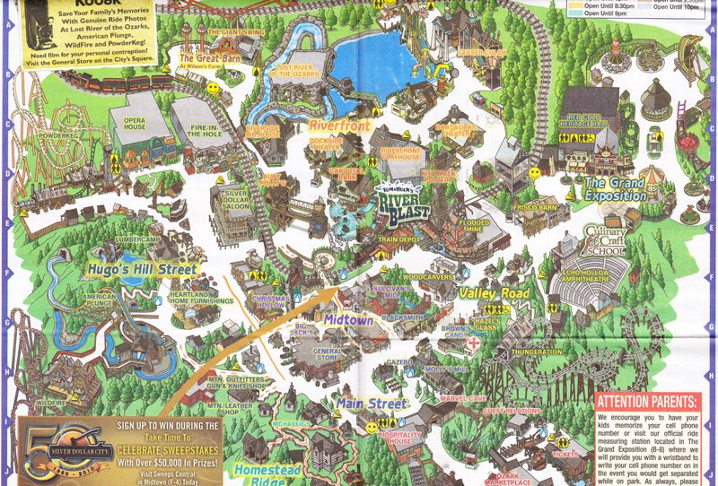 Silver Dollar City Map My Goodness How It S Grown Since I Was A Kid Silver Dollar City Branson Missouri Vacation Branson Vacation