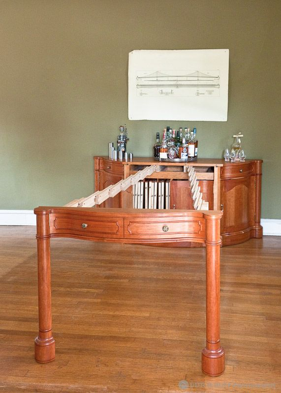 Buffet Telescoping Table 03 512 Custom Woodworking Custom Woodworking Woodworking Table