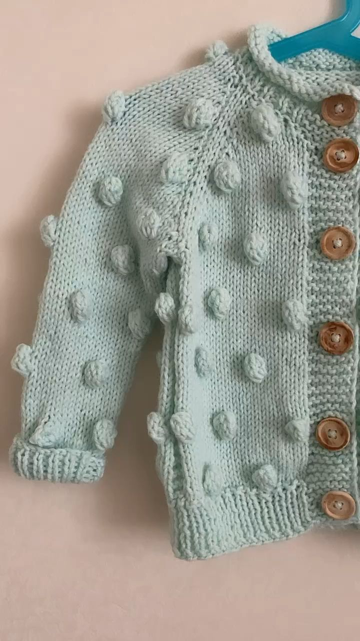 Photo of Tiffany Bobble Cardigan with Wooden Buttons – mr. baa
