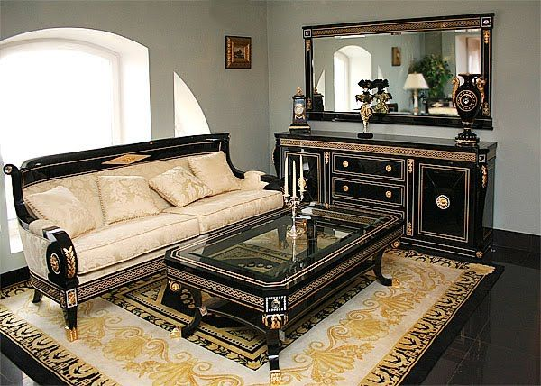Living Room Set In Empire Style Top And Best Italian Classic Furniture Luxzuriating While