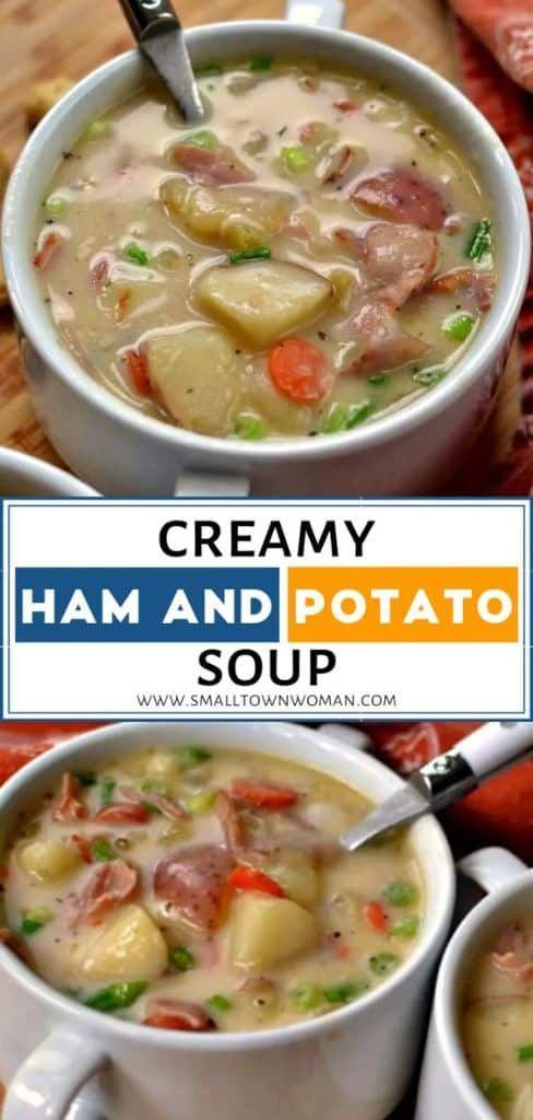 Creamy Ham and Potato Soup   Small Town Woman