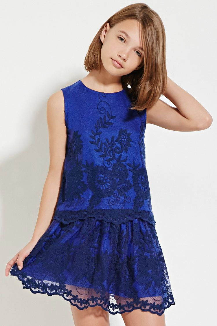 Girls Embroidered Lace Skirt (Kids)