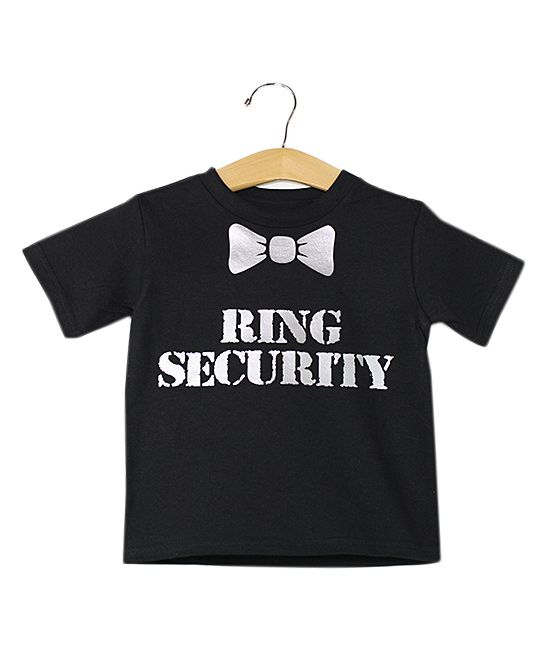 Black & White 'Ring Security' Tee - Toddler & Boys