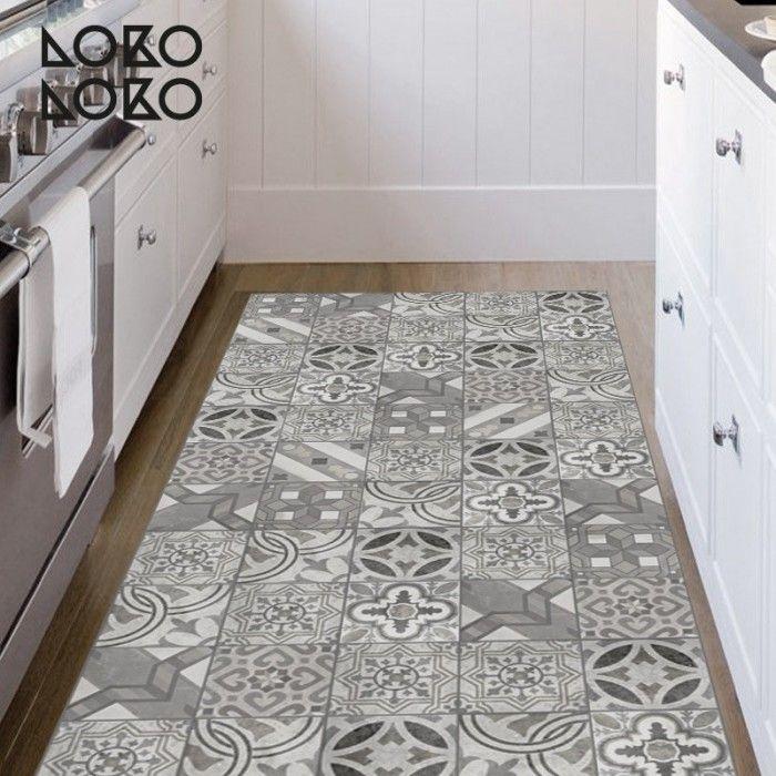 Cer mica en el suelo con vinilo lokolokodecora cer micos azulejos y mosaicos vinilos - Mosaicos para suelos ...