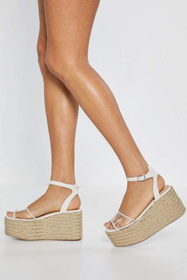 f6a9a73b69e Beg Toe Differ Clear Platform Wedges in 2019 | Products | Strappy ...