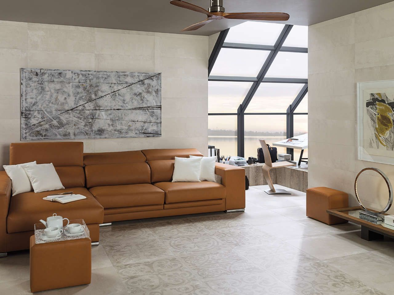 Collection carrelage ston ker porcelanosa tribeca for Carrelage 80x80 blanc