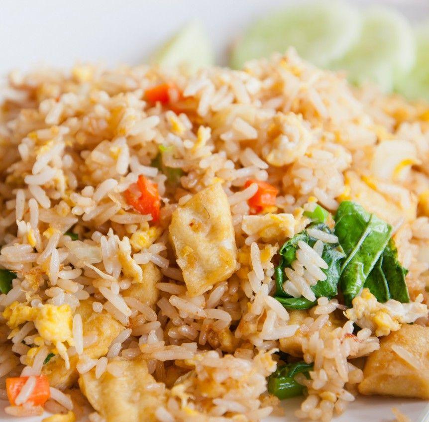 Thailändisches Tofu-Gemüse-Reisgericht