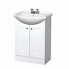 Photos On nd choice for kid us bath Style Selections White Eurostone Shaker Bath Vanity with